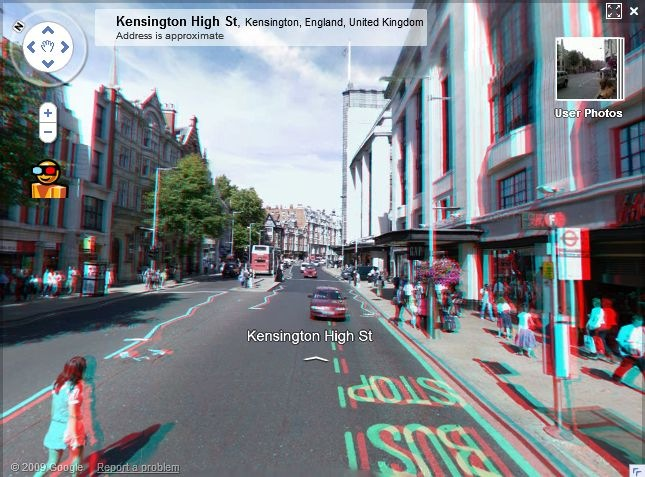 Google Maps Street View in 3D