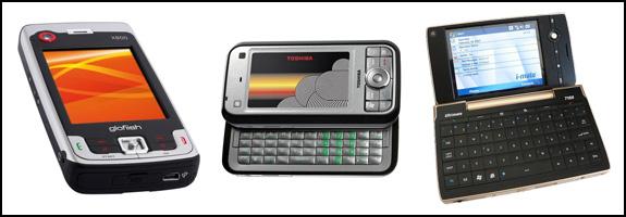 Eten X800, Toshiba G900, i-mate 7150